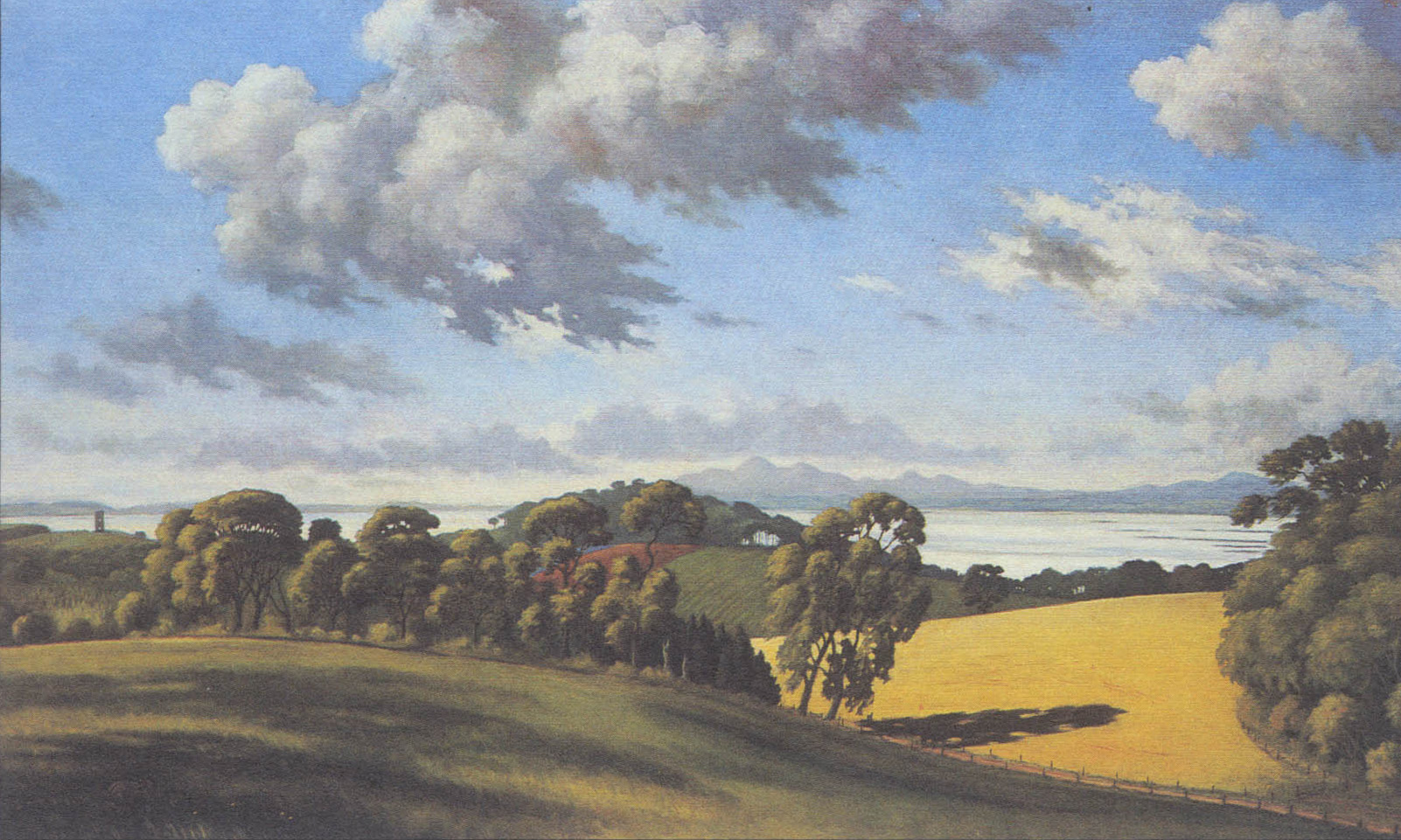 Across Strangford Lough from Grey Abbey, 37 x 61 in.