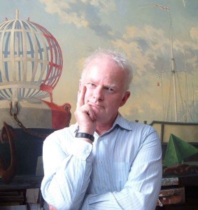 NRH in his studio